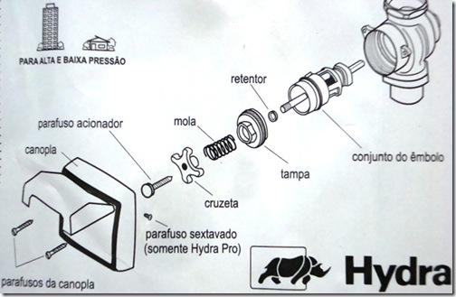 troca reparo válvula Hydra