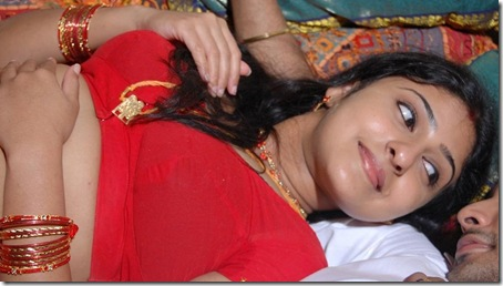 mounika_in_red_saree_04
