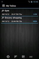Screenshot of ToDo Reminder