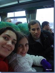 A família completa, no ônibus, indo do aeroporto Ezeiza para o Aeroparque, já em Buenos Aires