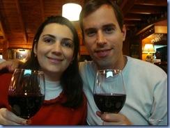 Nosso primeiro jantar em Villa La Angostura. Estávamos esfomeados!