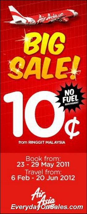 AirAsia-Big-Sale-10-Cent-2011-EverydayOnSales-Warehouse-Sale-Promotion-Deal-Discount
