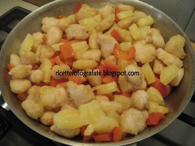 preparazione pollo in salsa agrodolce