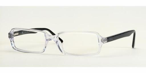 Óculos Ray Ban RX5050 Transparente com Preto
