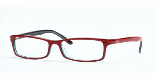 Óculos RX5065 Ray Ban Vinho Preto