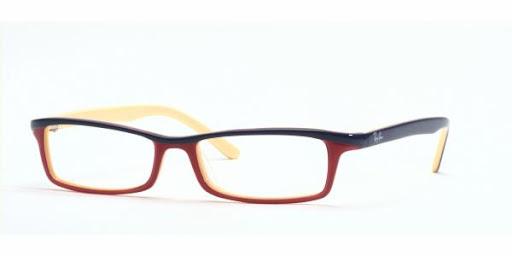 Óculos RX5065 Ray Ban Vinho com Creme