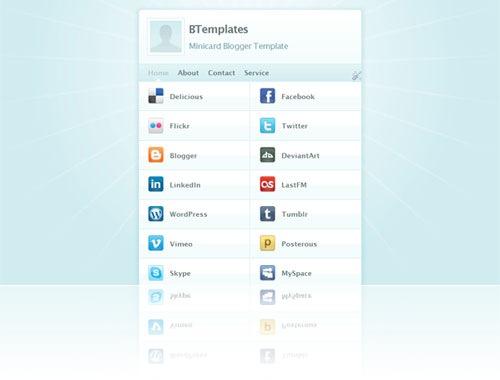 minicard-blogger-template