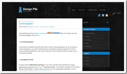Design-Pile-Blue
