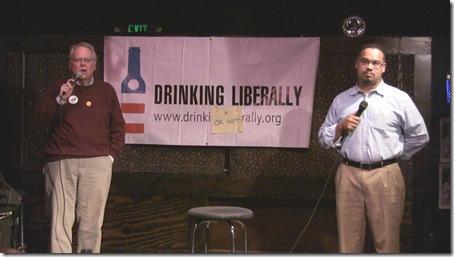 Keith Ellison at Drinking Liberally still1