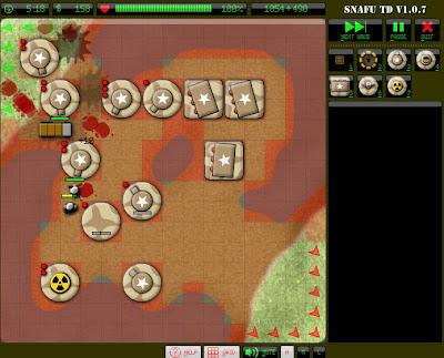 【防衛ゲーム】「Snafu Tower Defense」戦場に砲台を設置して戦うゲーム