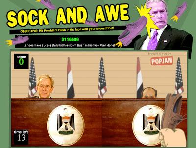 【ブッシュ靴投げ事件】事件をパロディにしたブッシュ大統領のゲームや画像がネットに登場