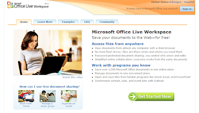英語版 * Microsoft Office Live Workspace