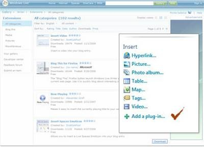 windows live writer plugins
