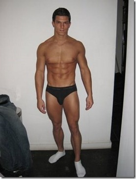 Michael Biserta in Underwear