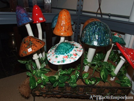 ceramic mushrooms from Mary Toth