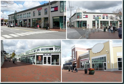 outlet store collage