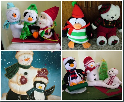 penguin-snowman collage