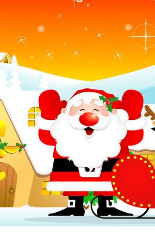 Cute Santa Claus iPhone Wallpaper