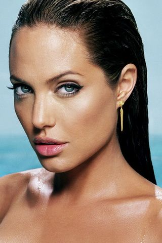 Angelina Jolie Sexy Photo iPhone Wallpaper