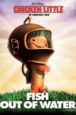 iPhone Wallpaper Chicken Little Fish Out of Water Poster