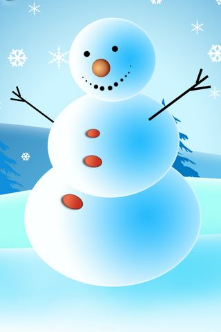 iPhone Background Merry Christmas From Snowman Picture
