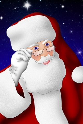Enjoy Christmas with Santa Claus Wallpaper For iPhone