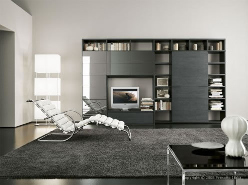 Contemporary living Room Design by Presotto Italia