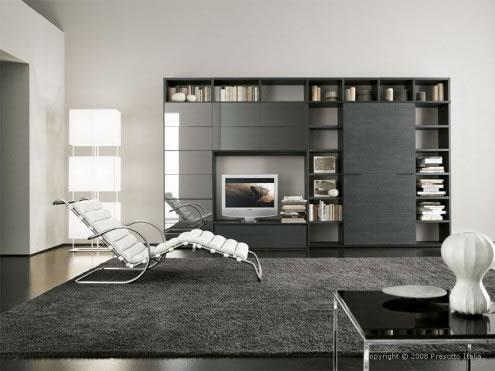 Contemporary living Room Design by Presotto Italia