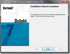 Delphi Install Finished