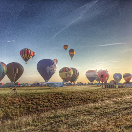 Balloon sunrise! by Bill Davis - Landscapes Travel ( hot air, air shows, sunrise, balloons,  )