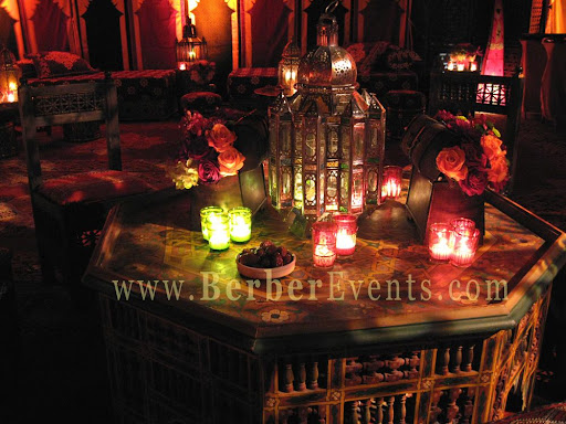 moroccan wedding lantern centerpieces