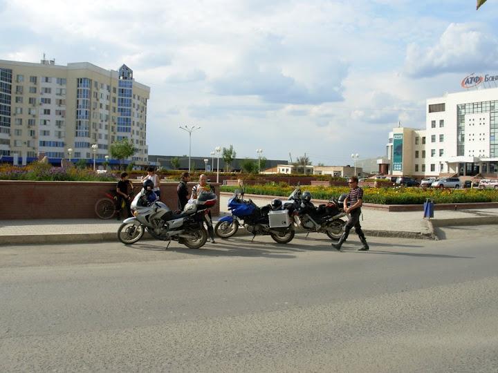 В Атырау на площади банков