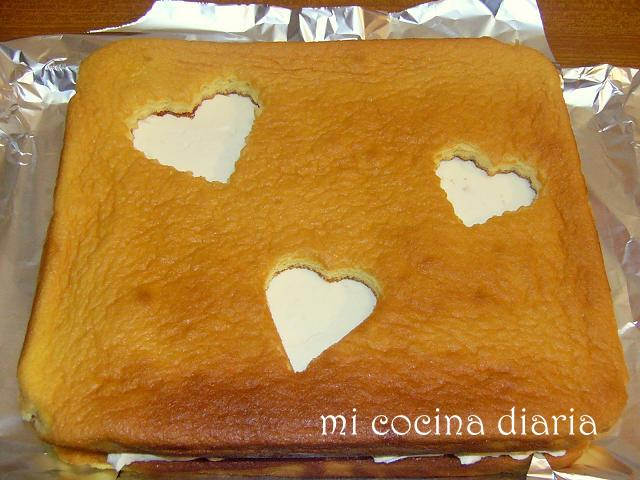 Tarta con corazones (  )