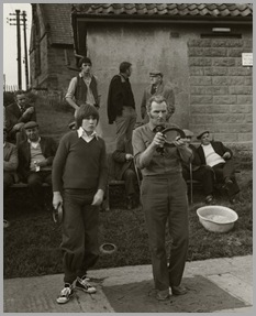 Father and son, Andrew and John White at Fylingthorpe Open North of England Championship on June 9th, 1979.