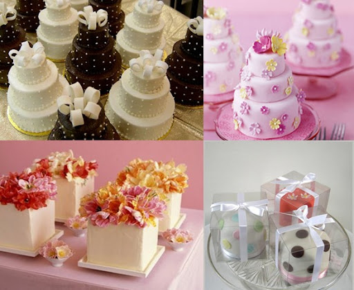 and reduce the amount of wedding cake you need mini wedding cakes