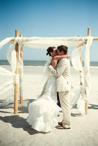 beach wedding chuppah And as always amazing photos by Turtle Pond