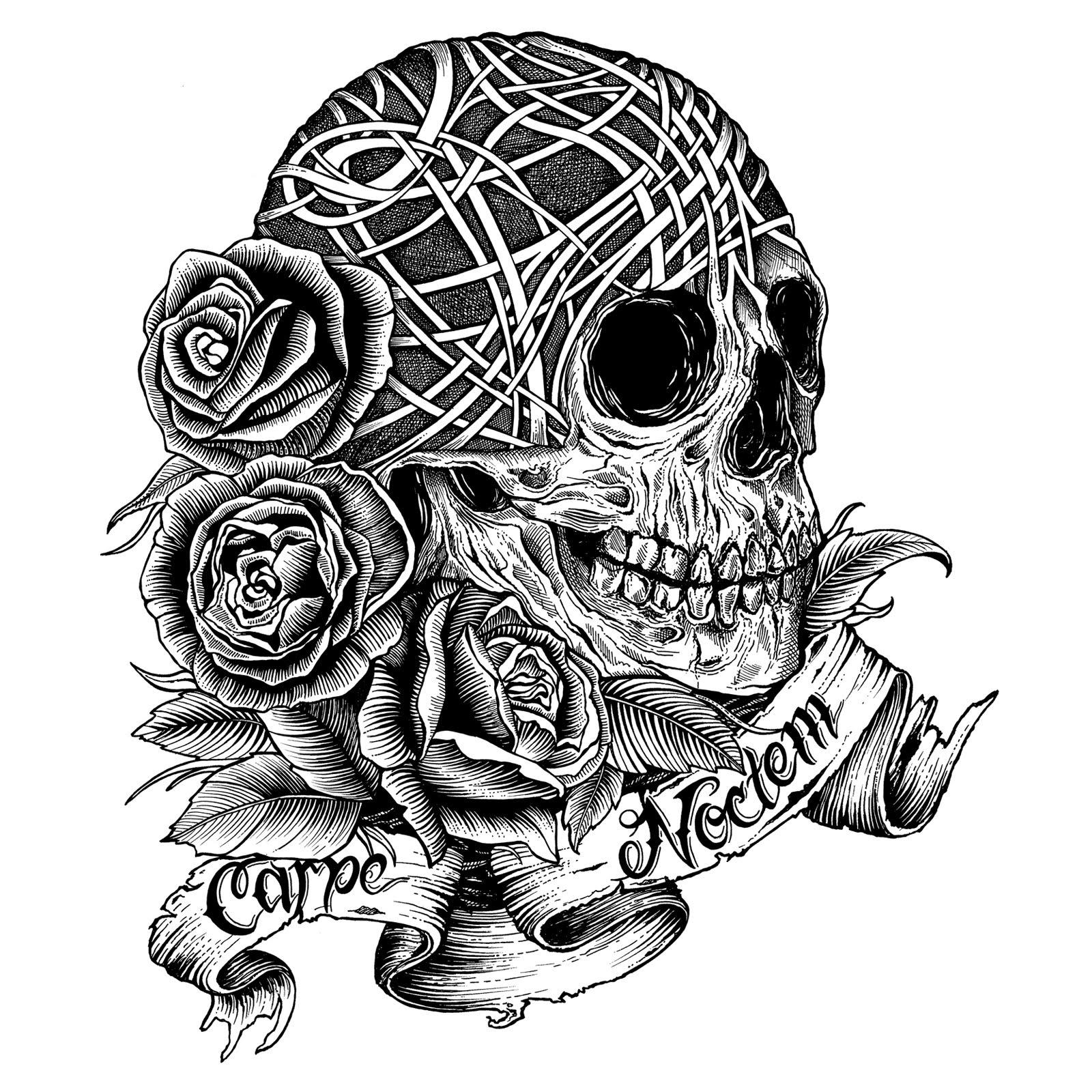 Free Coloring Pages Of Skull And Roses Skull And Roses Coloring Pages
