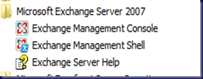 09-03-30 SBS 2008 - Exchange Start Menu Folder