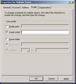 ADUC - Multiple Users Selected and Profile Tab