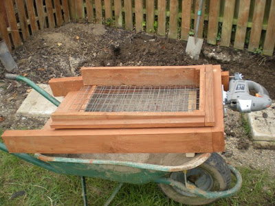 Made From Timber With The Sifting Box Running On Kitchen Drawer Rails It Is Powered By A Tesco Jigsaw And Self Cleaning Larger Bits