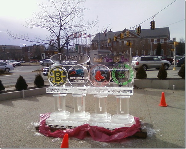 Tavern in the Square, ice sculpture