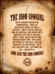 Copperponyscowgirl.blogspot./: Iron Cowgirl