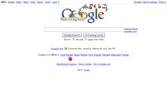 falling apple on Google Homepage