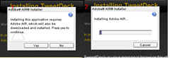 TweetDeck installs adobe air online