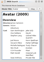 info fetched by VLC extension from IMDB