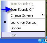 Turn off Windows Sounds with Soundoff