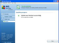 AVG_update finished _message