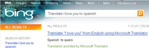 Language translation Using Bing