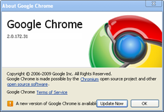 Google Chrome 2.0.172.33 Released