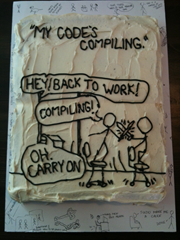birthday cake perfect for a programmer